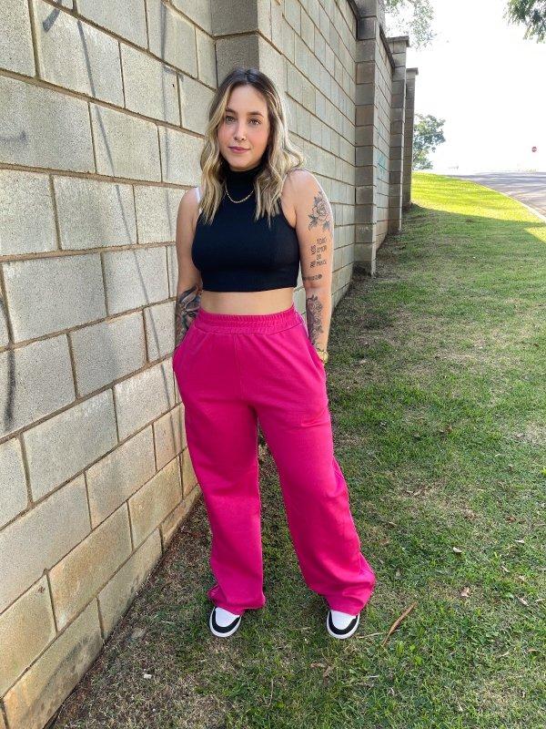 Wide Leg Moletom Pink Barbie-main