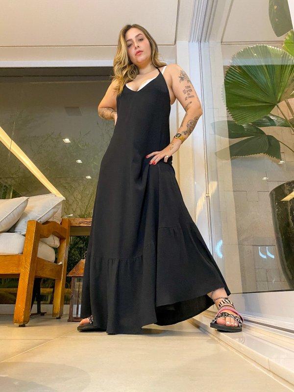 Vestido Cléo Preto -main