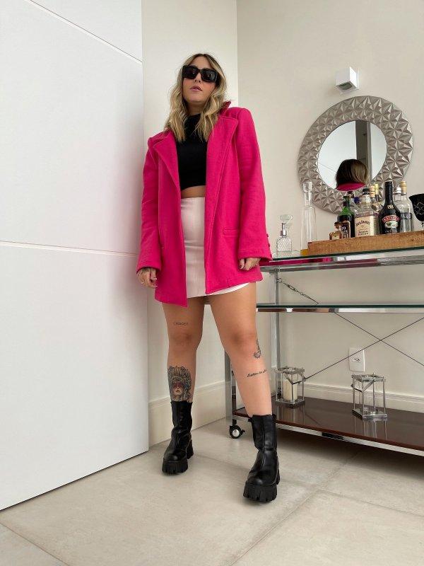 Blazer Moletom Oversize Pink Barbie