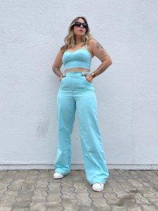 Cropped Jordana Azul Bebe-4
