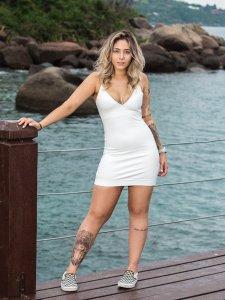 Vestido Mikonos Off White-1
